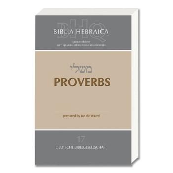 B/ HEBRAICA QUINTA-BHQ- PROVERBIOS, RÚSTICA
