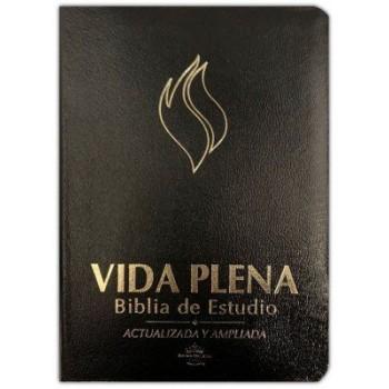 Biblia de Estudio RVR 1960 Vida Plena, Piel Fabricada, Negra (revisada y ampliada)