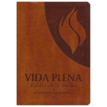 Biblia de Estudio RVR 1960 Vida Plena, Piel Imit., Marron, Indice (Actualizada y ampliada)