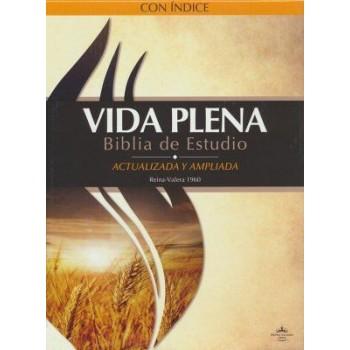 Biblia de Estudio RVR 1960 Vida Plena, Piel Fab., Negra, Indice (actualizada y ampliada)