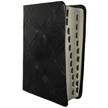 Biblia RVR60 compacta de promesas i/piel negro con índice