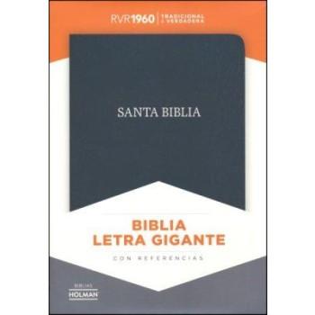 RVR 1960 Biblia Letra Gigante negro, piel fabricada con índice