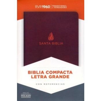 RVR 1960 Biblia Compacta Letra Grande marrón, piel fabricada