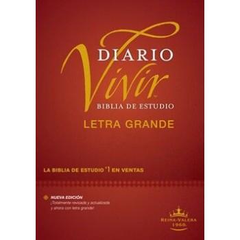 Biblia de estudio del diario vivir RVR60, letra grande Tapa Dura