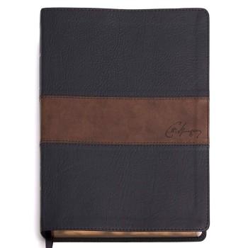 Biblia de Estudio Spurgeon RVR60 i/piel marrón/marrón