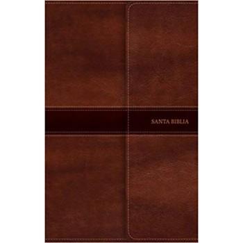 Biblia ultrafina NVI marrón/marrón i/piel con solapa