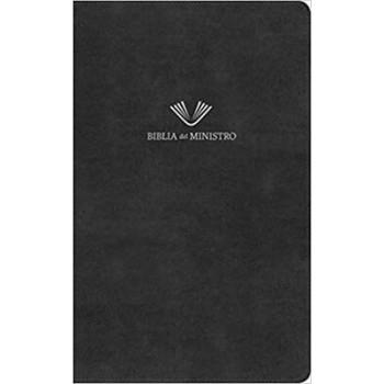 Biblia del ministro RVR60, negro piel fabricada