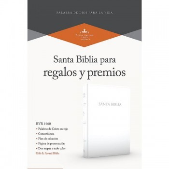 Santa Biblia de regalos y premios RVR60 i/piel Blanca