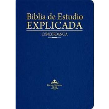 BIBLIA DE ESTUDIO EXPLICADA (PIEL ESPECIAL AZUL)