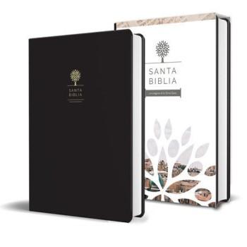 Biblia Reina Valera 1960 letra grande. Símil piel color negro, tamaño manual