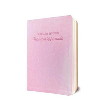 Biblia de estudio Herencia Reformada i/piel rosa