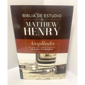 BIBLIA DE ESTUDIO RVR. MATTHEW HENRY.