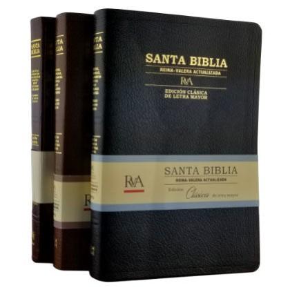 Biblia RVA Edición Clásica. Letra GRande - color negro. Imitación Piel