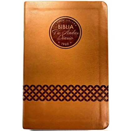 Biblia tu andar diario i/piel Almendra (nueva edición)