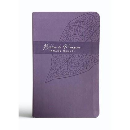 Biblia Reina Valera 1960 de promesas Letra Grande i/piel lila lavanda