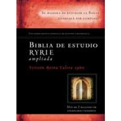Biblia de estudio Ryrie ampliada RVR60 - Tapa dura con índice