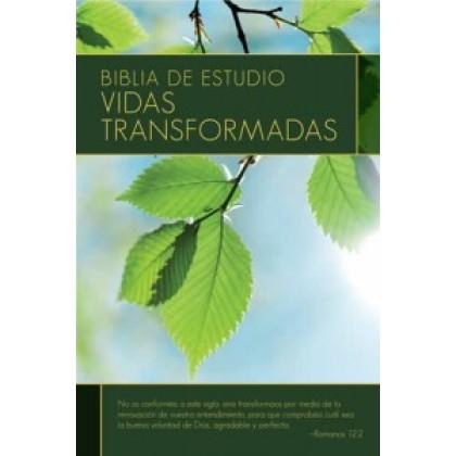 Biblia de estudio: Vidas transformadas RVR60 - Tapa dura con índice
