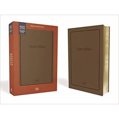 Biblia RVR1977 Tamaño manual letra grande i/piel marrón