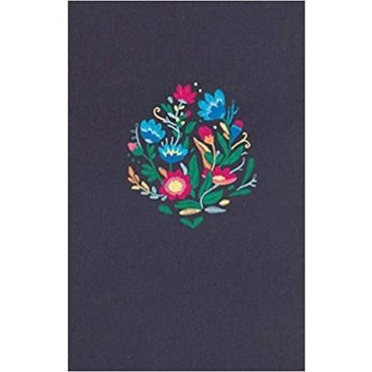 Biblia Ultrafina RVR60, azul bordado sobre tela