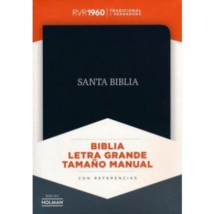 RVR 1960 Biblia Letra Grande Tamaño Manual, negro piel fabricada