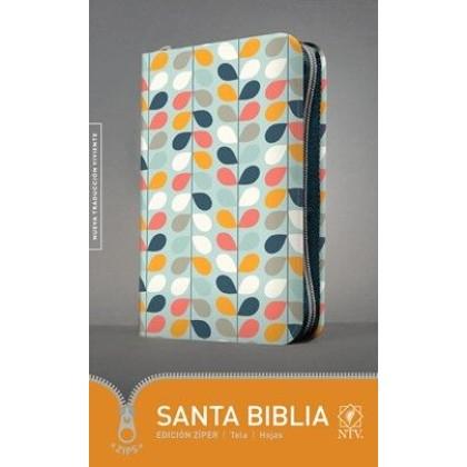 Santa Biblia NTV, Edición zíper, tela hojas