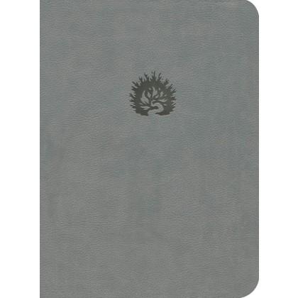 La Biblia de Estudio de La Reforma LBLA, i/piel gris con estuche